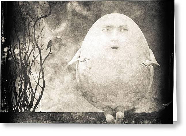 Humpty Dumpty Greeting Card by Bob Orsillo