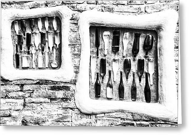 Hundertwasser Bottle Art Greeting Card by Vessela Banzourkova