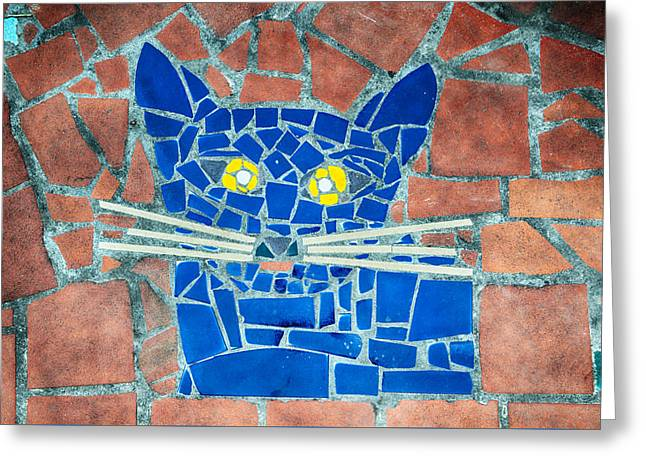 House Pet Greeting Cards - Hundertwasser Cat Greeting Card by Vessela Banzourkova