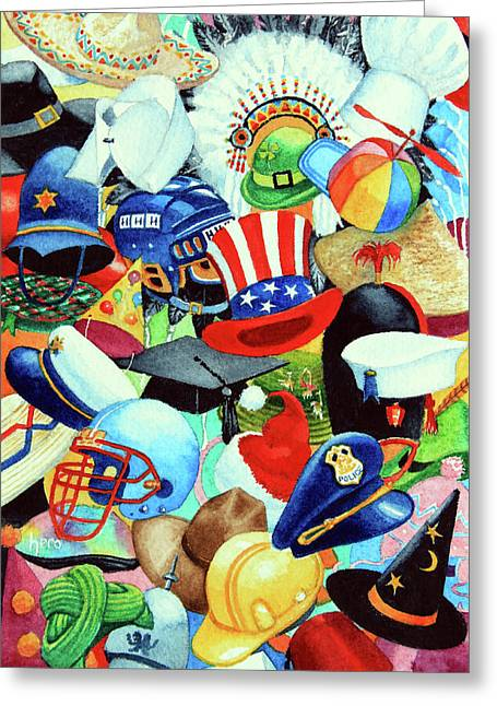 Charro Hat Greeting Cards - Hundreds of Hats Greeting Card by Hanne Lore Koehler