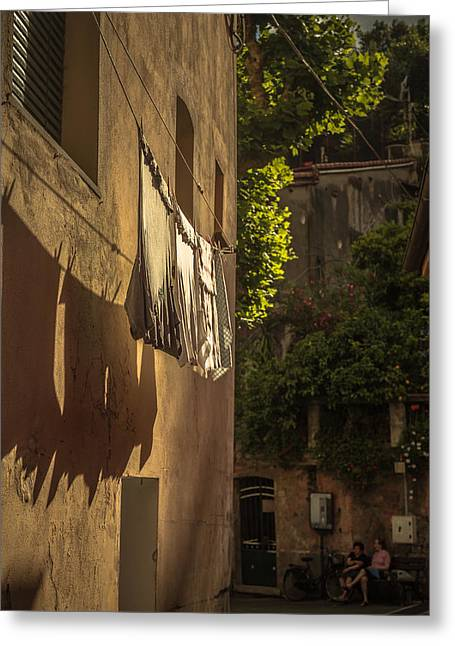 Monterosso Greeting Cards - Hung out to dry Greeting Card by Chris Fletcher