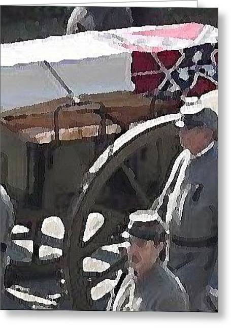 Confederate Flag Greeting Cards - Hunley Crew - Last walk  Greeting Card by Shanon McAlister