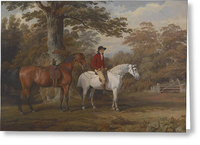 Horseman Greeting Cards - Hunter and Huntsman Greeting Card by George Gerrard