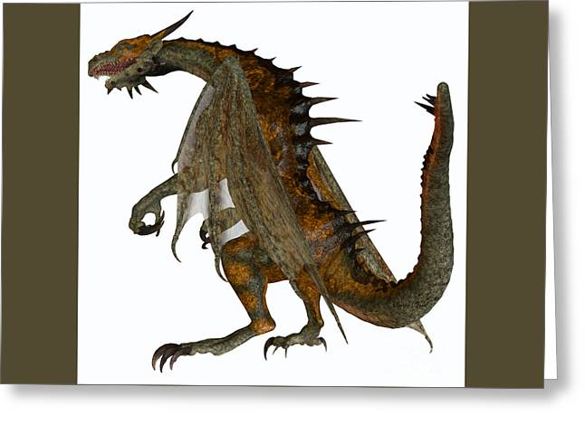 Fantasy Creatures Greeting Cards - Hunter Dragon Greeting Card by Corey Ford