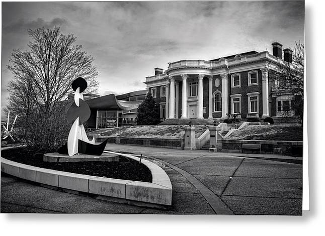 Hunter Mansion In Black And White Greeting Card by Greg Mimbs