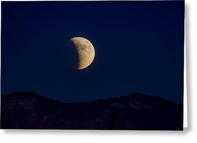 Hunters Moon Greeting Cards - Hunters Moon Lunar Eclipse  Greeting Card by Saija  Lehtonen