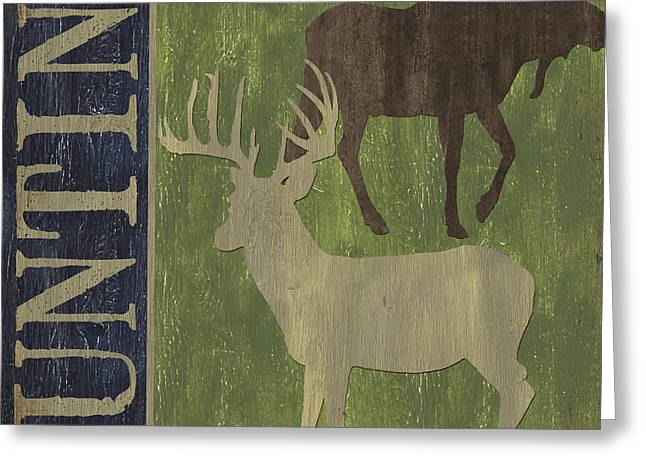Hunting Cabin Greeting Cards - Hunting Greeting Card by Debbie DeWitt