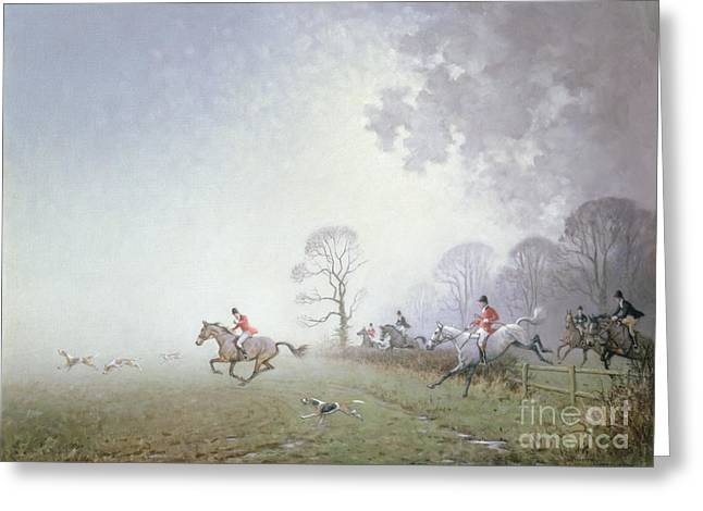 Hunting Greeting Cards - Hunting Scene Greeting Card by Ninetta Butterworth