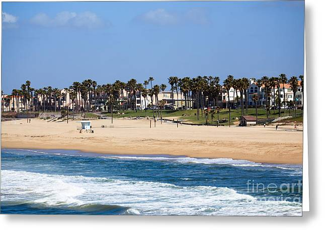 Huntington Beach California Greeting Card by Paul Velgos