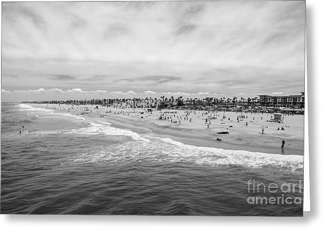 Ocean Shore Greeting Cards - Huntington Beach California Pier View Greeting Card by Trekkerimages Photography