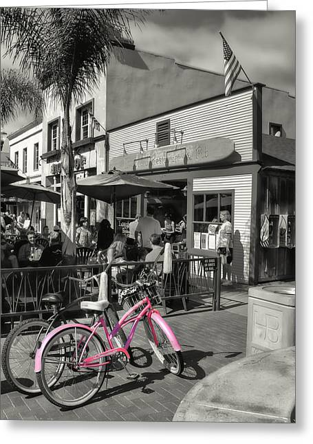 Huntington Beach Longboard Restaurant And Pub Greeting Card by Rich Beer