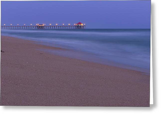 Surf City Greeting Cards - Huntington Beach Pier Greeting Card by Daniel Burrola