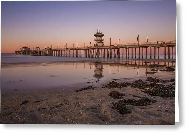 Huntington Beach Pier Greeting Card by Sean Foster
