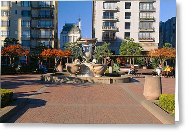 Northern California Parks Greeting Cards - Huntington Park, Nob Hill, San Greeting Card by Panoramic Images