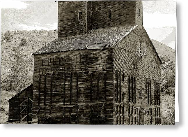 Wooden Building Greeting Cards - Hunts Ferry Barn Greeting Card by David Lee Thompson