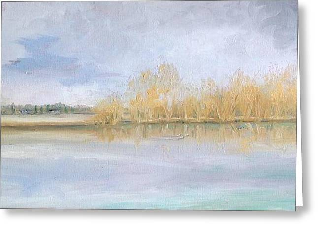 Huntsmans Lake Lechlade Greeting Card by Yvonne Ayoub