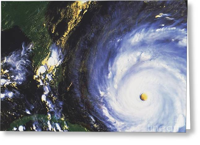 Noaa Greeting Cards - Hurricane Floyd Greeting Card by NASA / Science Source