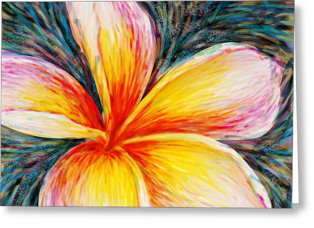 Plumeria Greeting Cards - Hurt Filling Greeting Card by Atiketta Sangasaeng