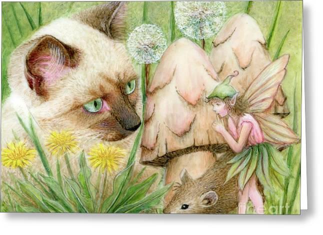 Hush Little Mouse Greeting Card by Karen Hull