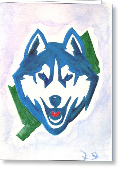 Huskies Mixed Media Greeting Cards - Husky Nation Greeting Card by DJ Fessenden