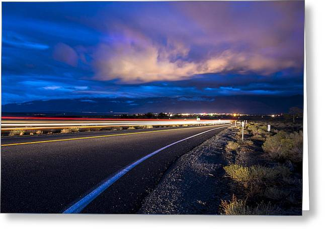 Hwy. 168 To Bishop, Ca Greeting Card by Cat Connor