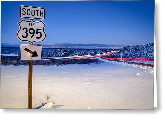 Hwy. 395 South Greeting Card by Cat Connor