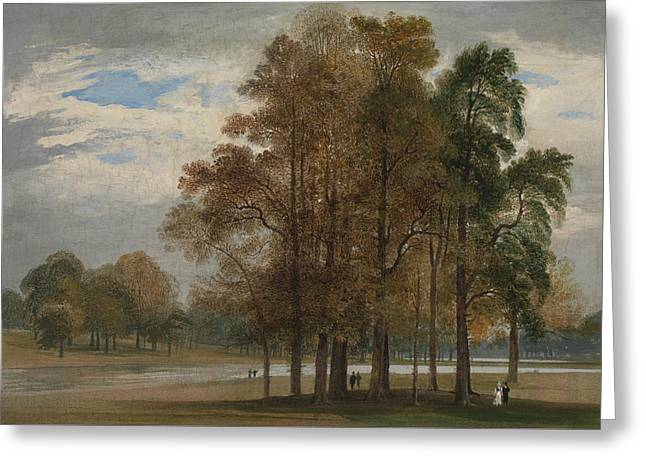 Hyde Park Greeting Card by John Martin