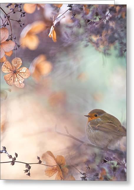 Hydrangea Fantasy Greeting Card by Teuni