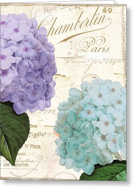 Purple Hydrangeas Greeting Cards - Hydrangea Hortensia Greeting Card by Mindy Sommers