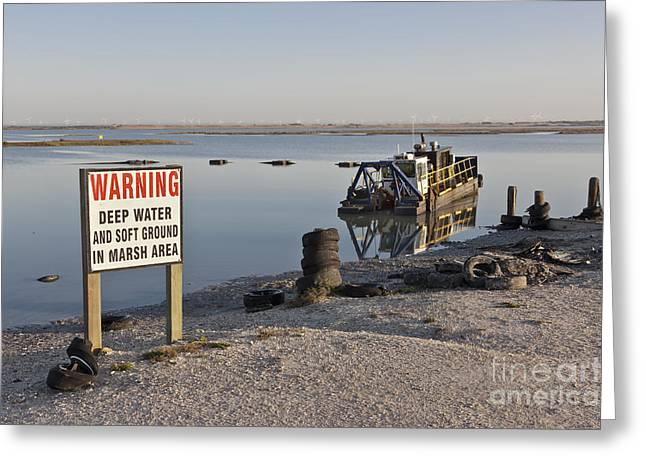 Dredge Greeting Cards - Hydraulic Suction Dredge Greeting Card by Inga Spence