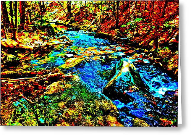 Hyper Childs Brook Z 5 Greeting Card by George Ramos
