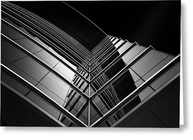 Building Reflections Greeting Cards - Hypnotism Greeting Card by Sophie Voituron