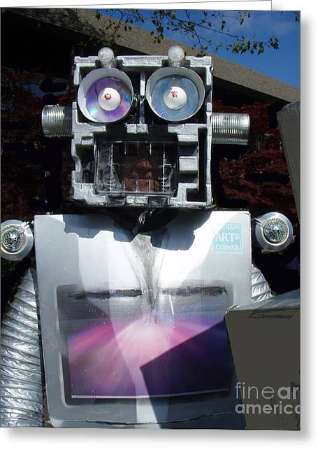 Junk Mixed Media Greeting Cards - I - Robot Greeting Card by Bill  Thomson