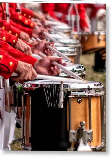 Marching Band Greeting Cards - I 9 Greeting Card by ART Card Studio