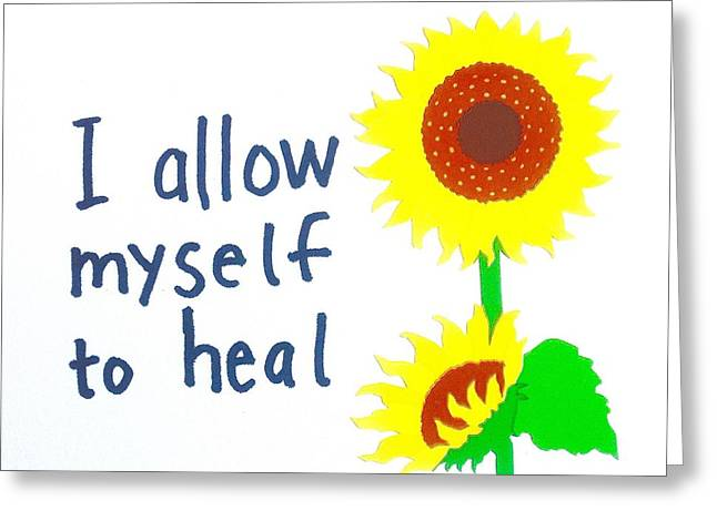 Empower Greeting Cards - I allow myself to heal Greeting Card by Tiny Affirmations