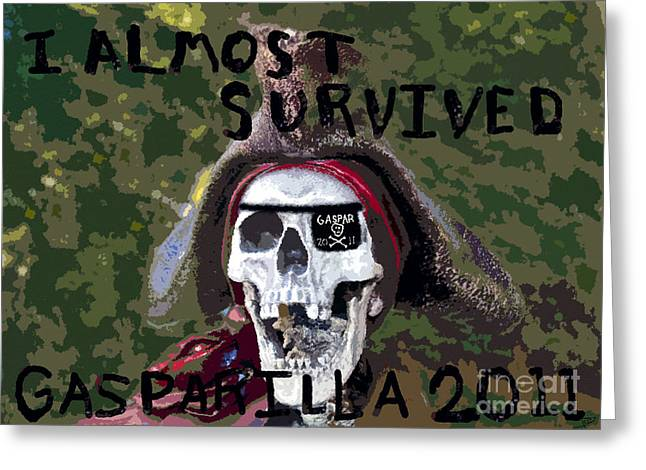 Buccaneer Digital Art Greeting Cards - I Almost Survived Greeting Card by David Lee Thompson