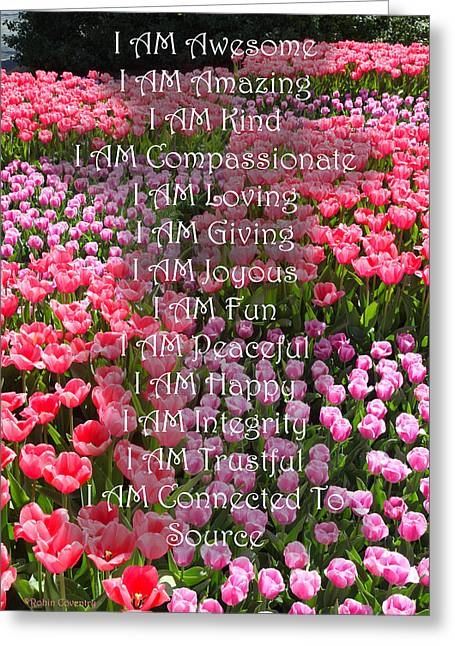 Loving Self Greeting Cards - I Am 2 Greeting Card by Robin Coventry