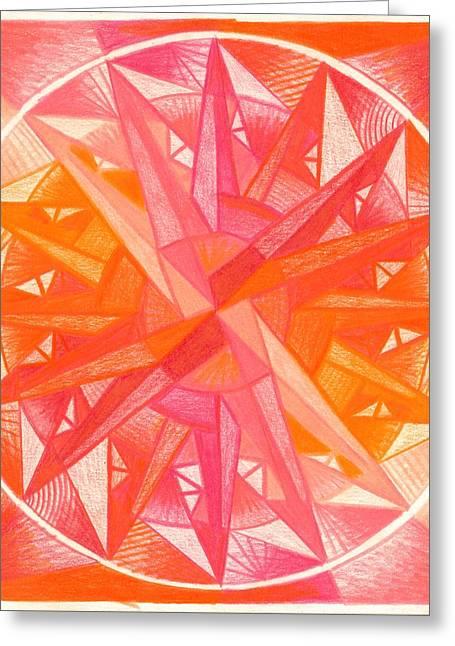 Mandalas Pastels Greeting Cards - I Am Alive Greeting Card by Ulla Mentzel