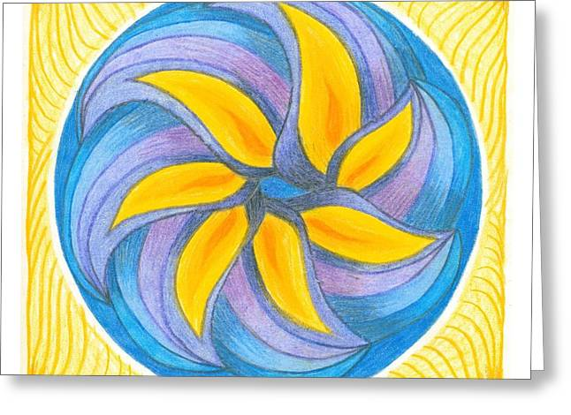 Circle Pastels Greeting Cards - I Am Blossoming Greeting Card by Ulla Mentzel