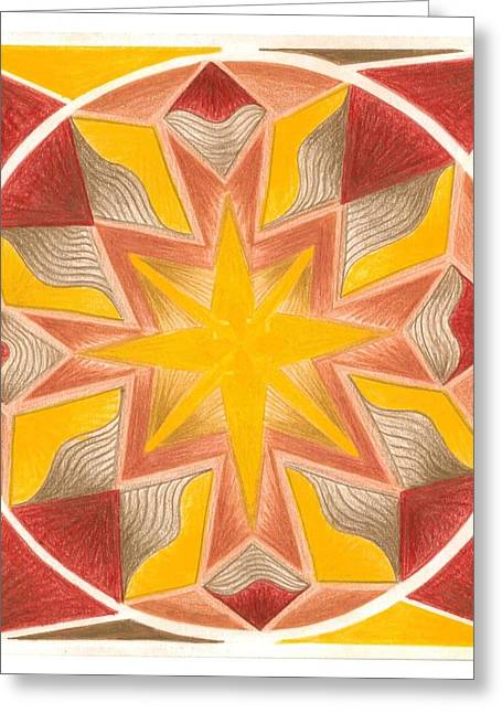 Circle Pastels Greeting Cards - I am Centered in the Now Greeting Card by Ulla Mentzel