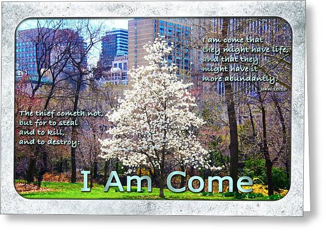 Terry Wallace Greeting Cards - I Am Come Greeting Card by Terry Wallace