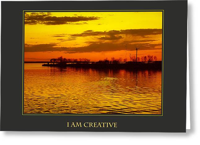 Personal-development Greeting Cards - I Am Creative Greeting Card by Donna Corless