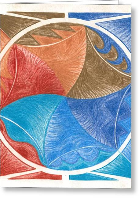 Circle Pastels Greeting Cards - I Am Expanding Greeting Card by Ulla Mentzel