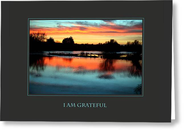 I Am Grateful Greeting Card by Donna Corless