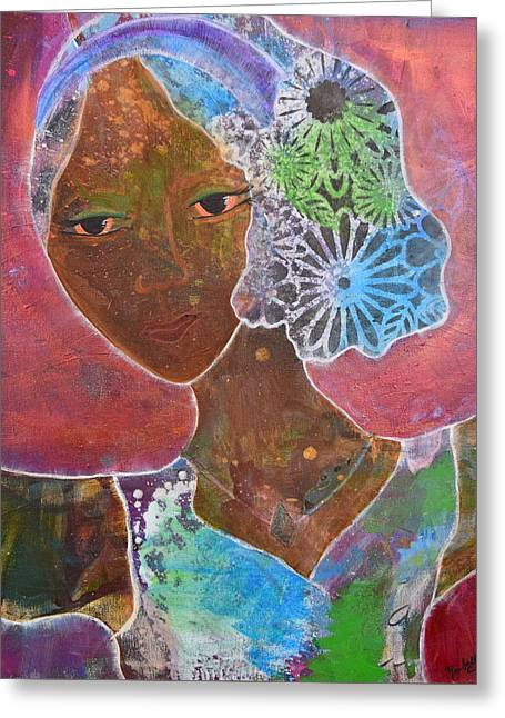 Empower Greeting Cards - I AM Here Greeting Card by Rachelle Eason