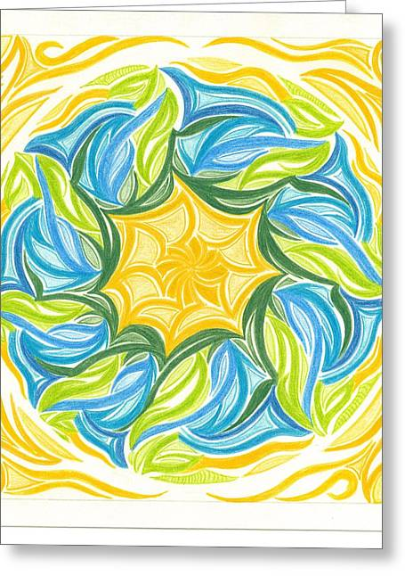 Mandalas Pastels Greeting Cards - I am in a Circle of Trust Greeting Card by Ulla Mentzel