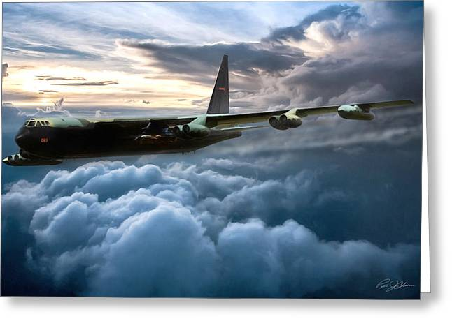Steamy Greeting Cards - I Am Legend B-52 Greeting Card by Peter Chilelli