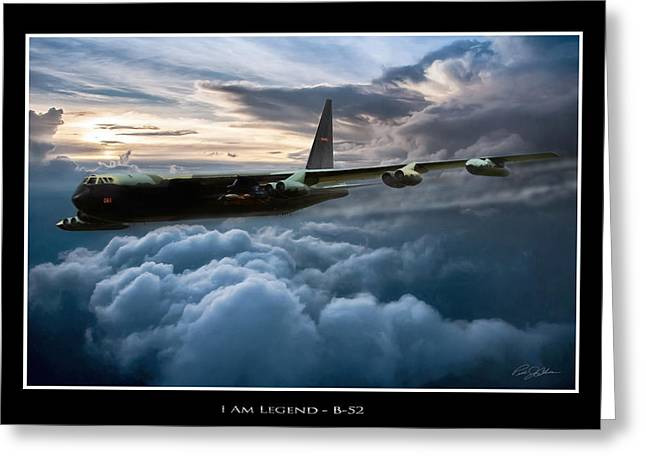 I Am Legend B-52 V2 Greeting Card by Peter Chilelli