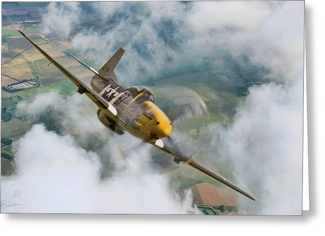 Vintage Air Planes Greeting Cards - I Am Legend P-51 Greeting Card by Peter Chilelli
