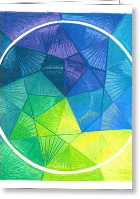 Mandalas Pastels Greeting Cards - I Am Letting Go Greeting Card by Ulla Mentzel